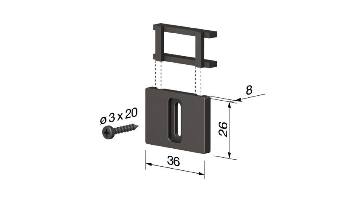 Accessori standard per il paraspifferi Serie Special 110