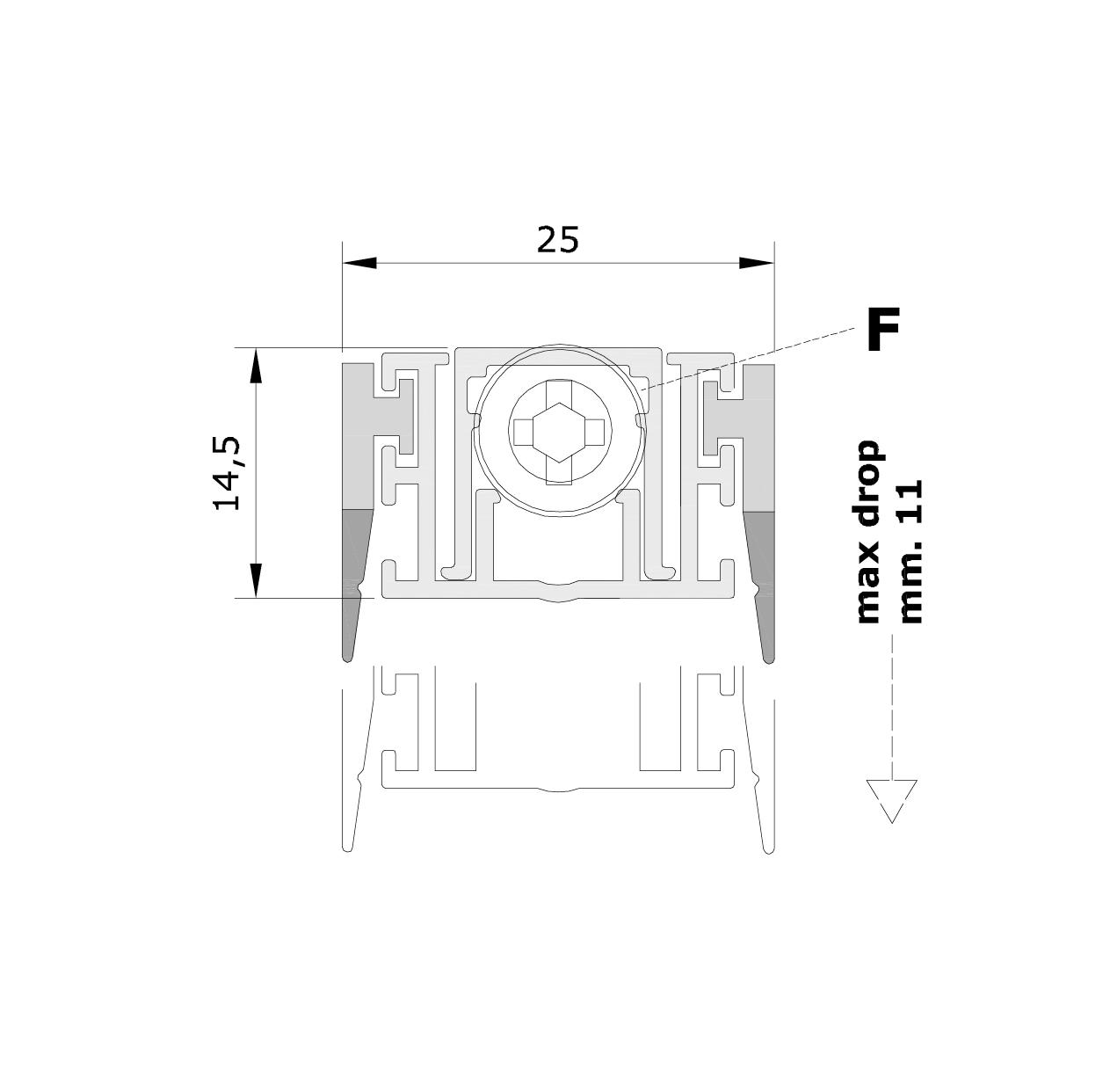 Misure standard (mm) per il paraspifferi Serie Special 120