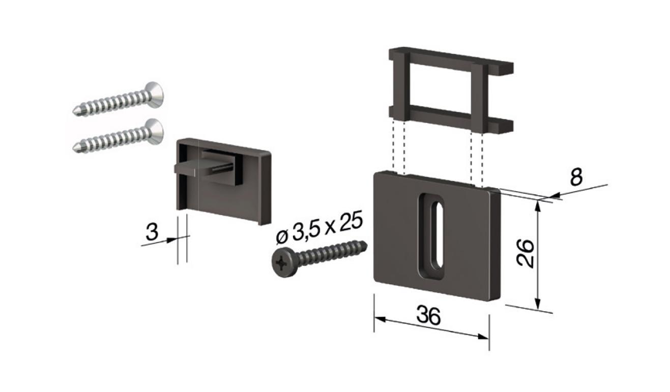 Accessori standard per il paraspifferi Serie Special 120