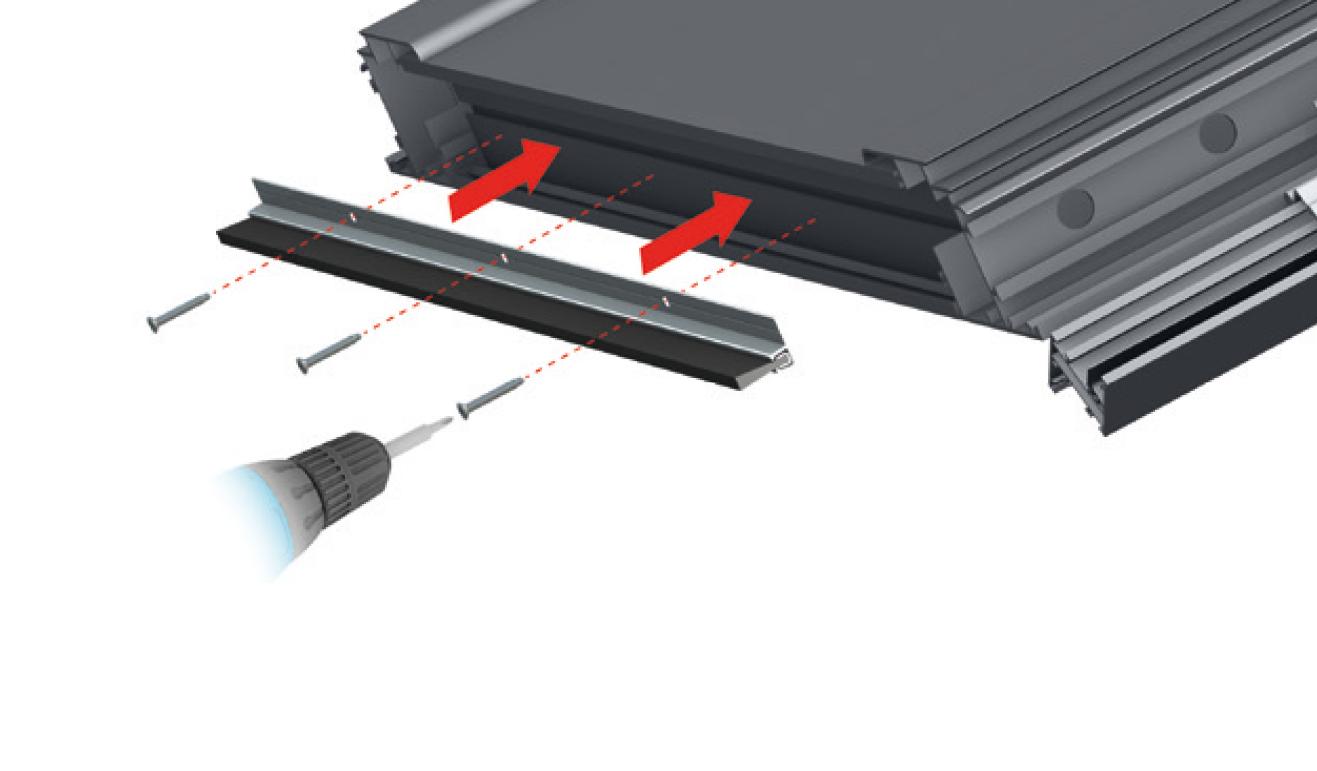 Sistema di fissaggio standard per il paraspifferi Serie Comax 126