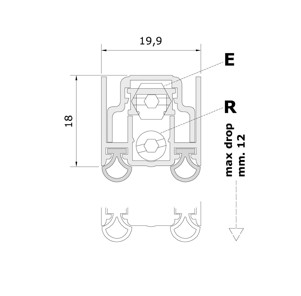 Misure standard (mm) per il paraspifferi Serie Special 1300