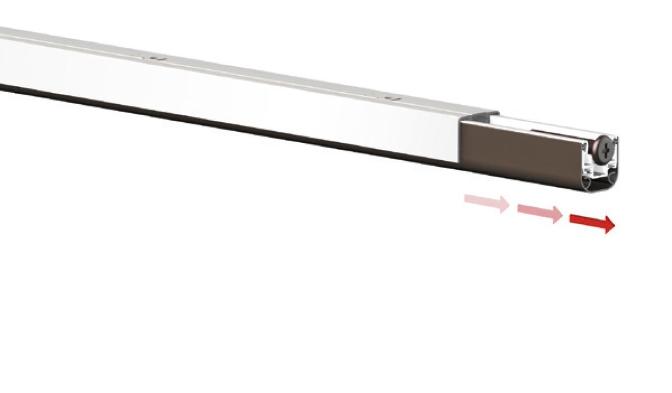 Sistema di fissaggio standard per il paraspifferi Serie Special 1300