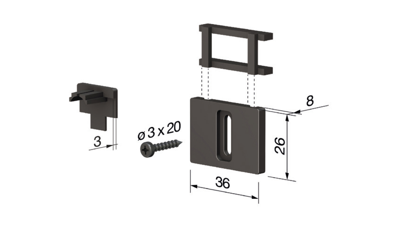 Accessori standard per il paraspifferi Serie Special 1370