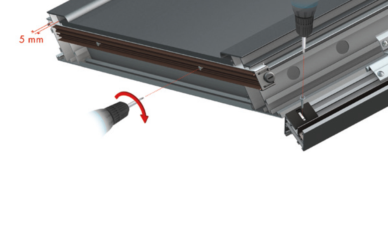 Standard fastening system for drop down seal Serie Special 1370