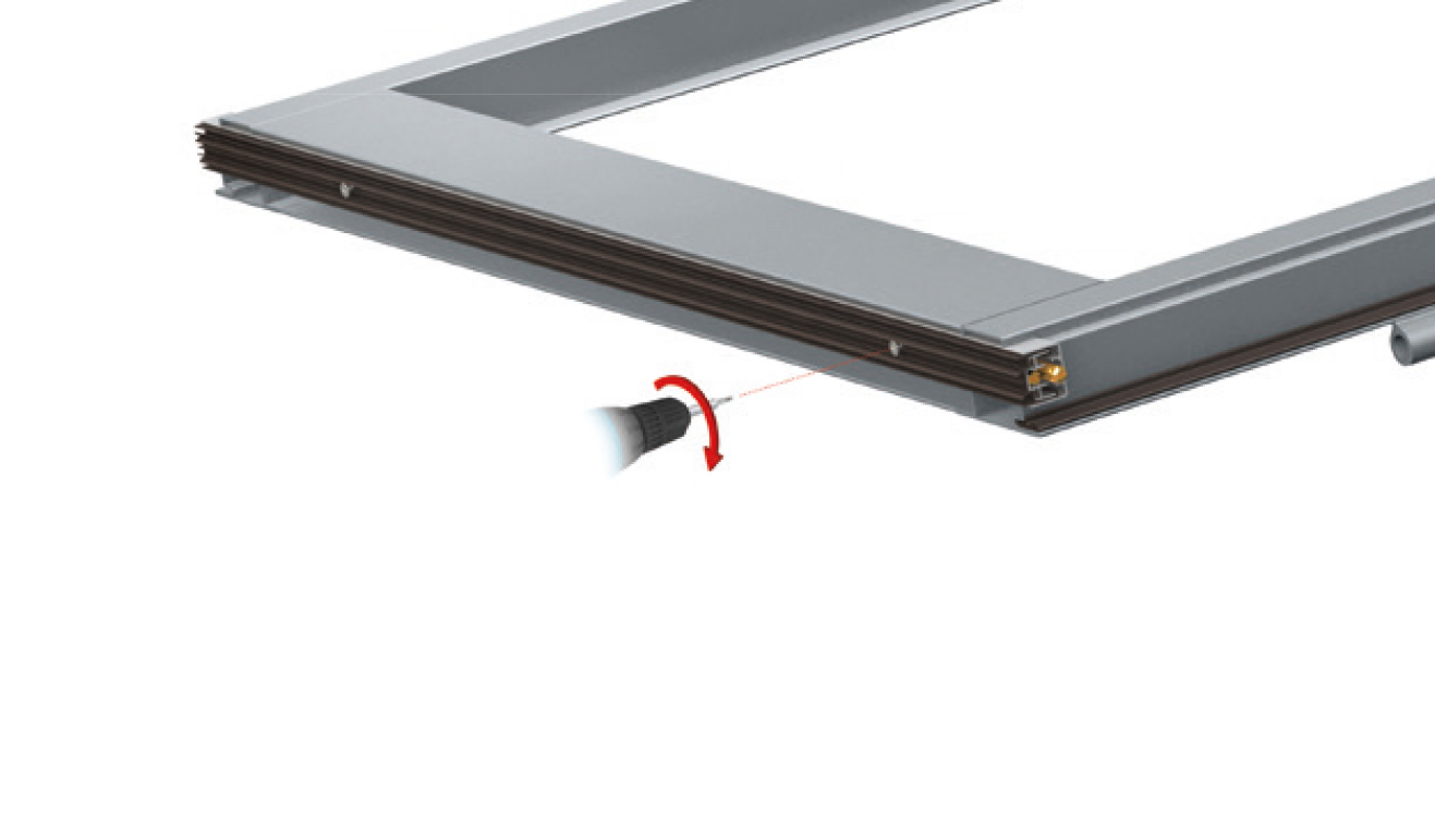 Standard fastening system for drop down seal No Sound Series 1370