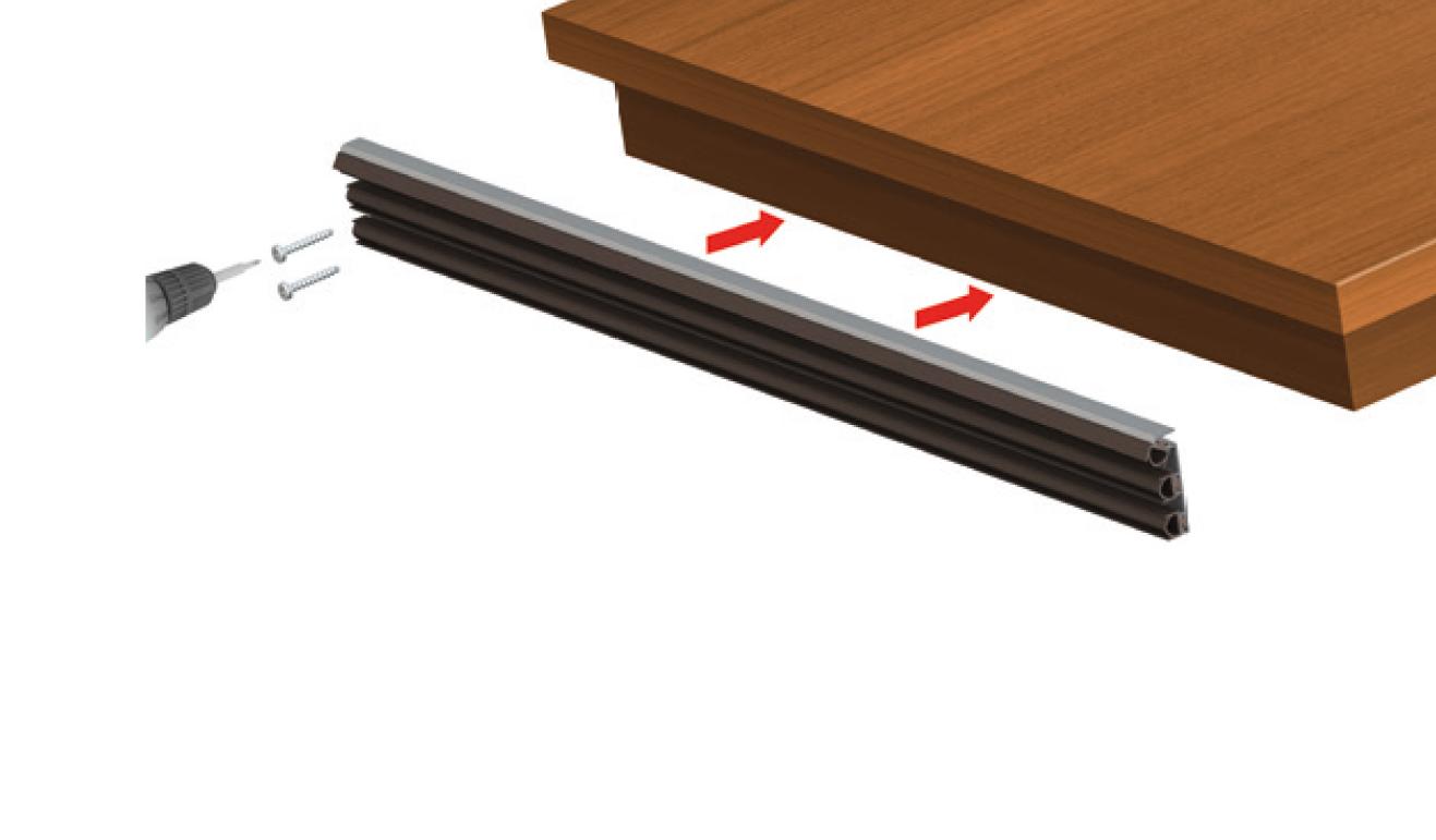 Sistema di fissaggio standard per il paraspifferi Serie Universal 1375