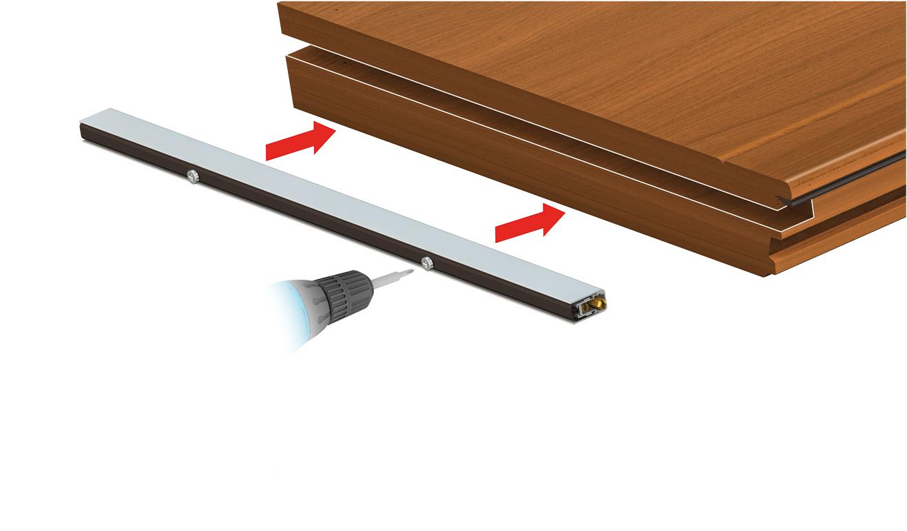 Sistema di fissaggio standard per il paraspifferi Serie Universal 1390