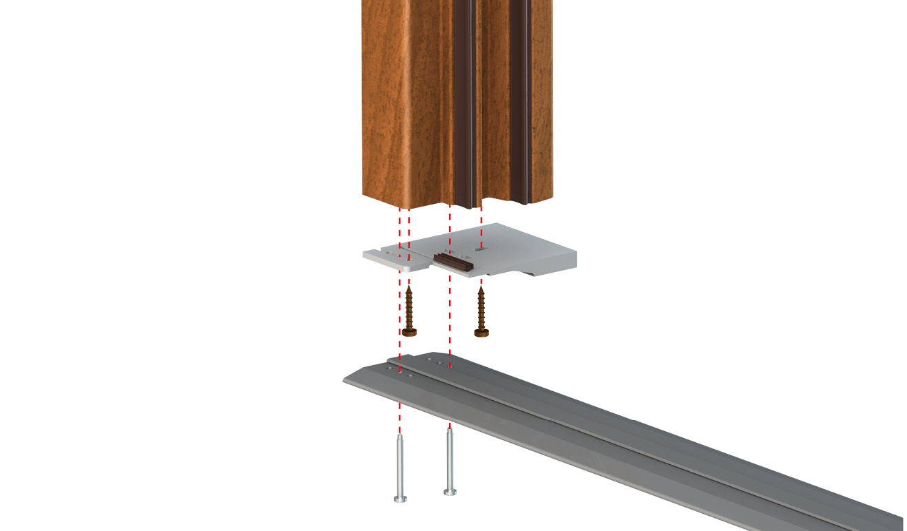 Standard fastening system for drop down seal Serie Universal 1390
