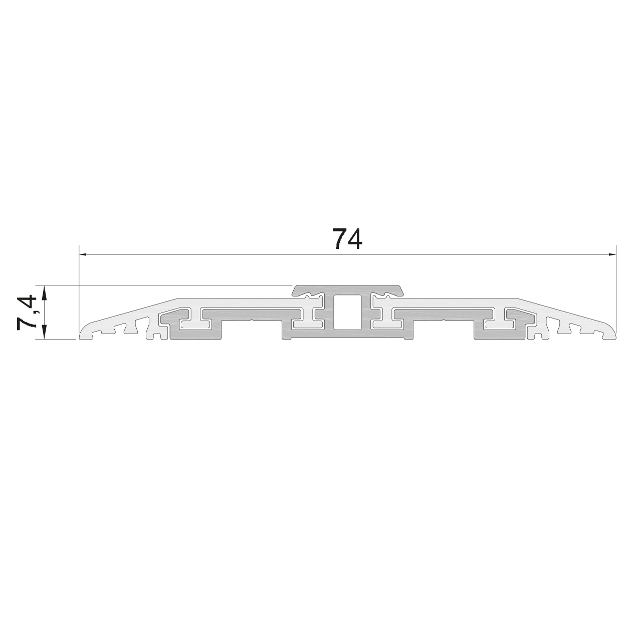 Standard measurements (mm) for drop down seal Serie Universal 1390