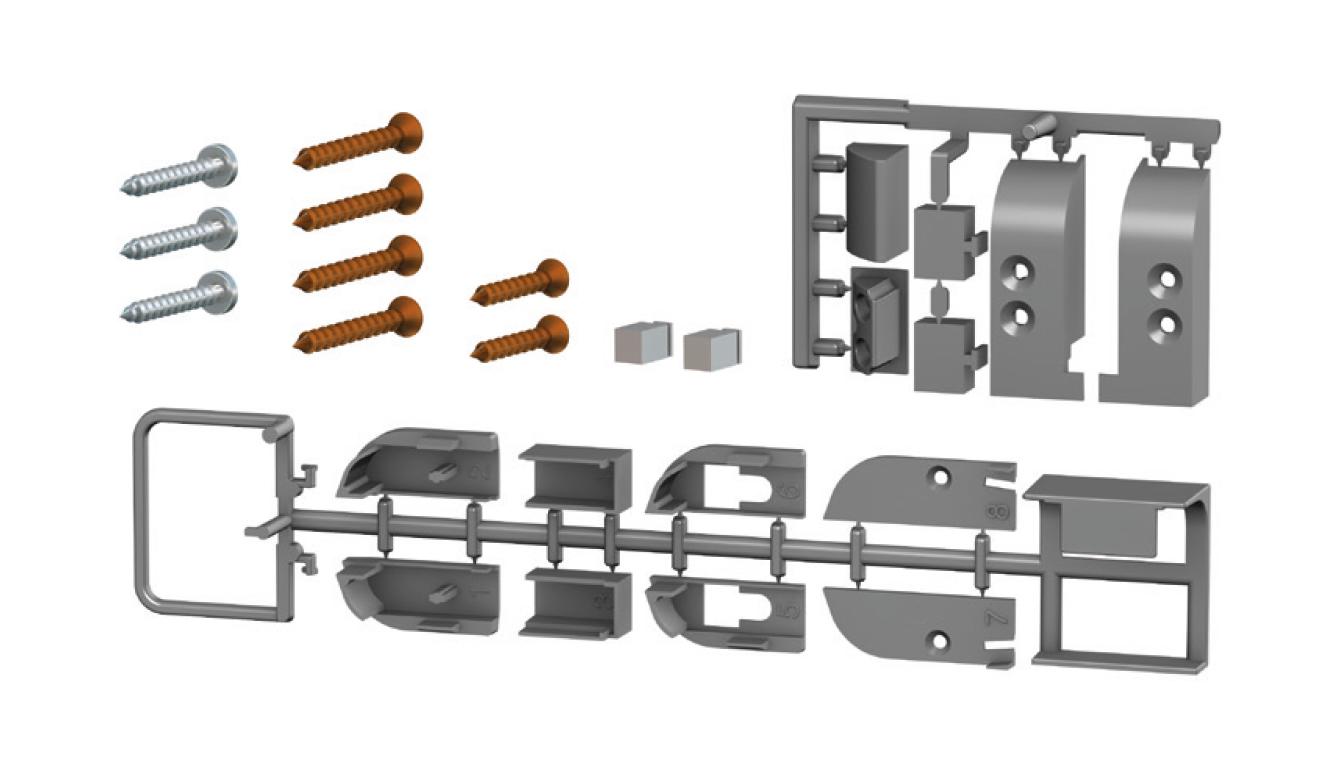 Accessori standard per il paraspifferi Serie Comax 1460