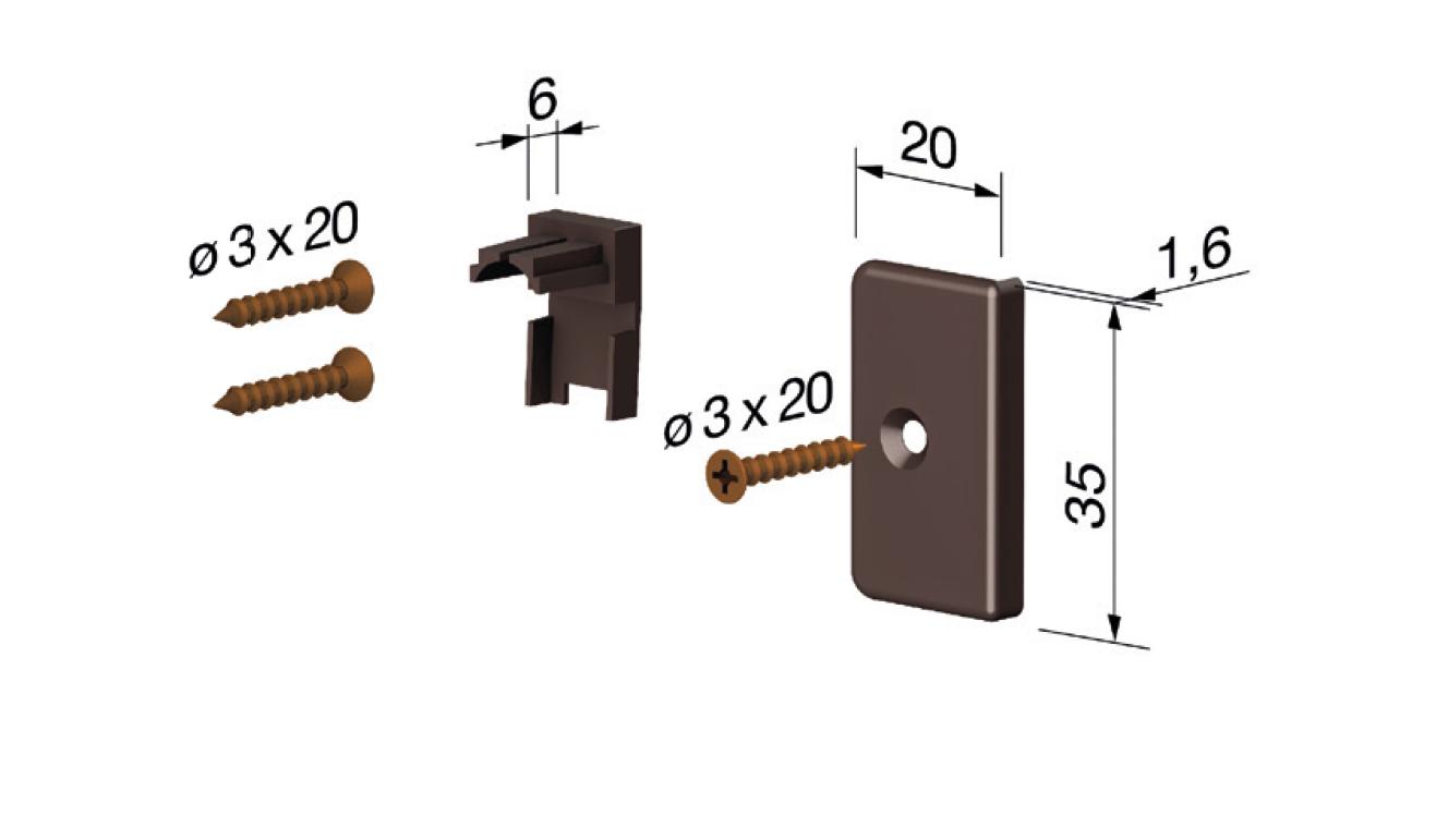 Accessori standard per il paraspifferi Serie Pressure 1700