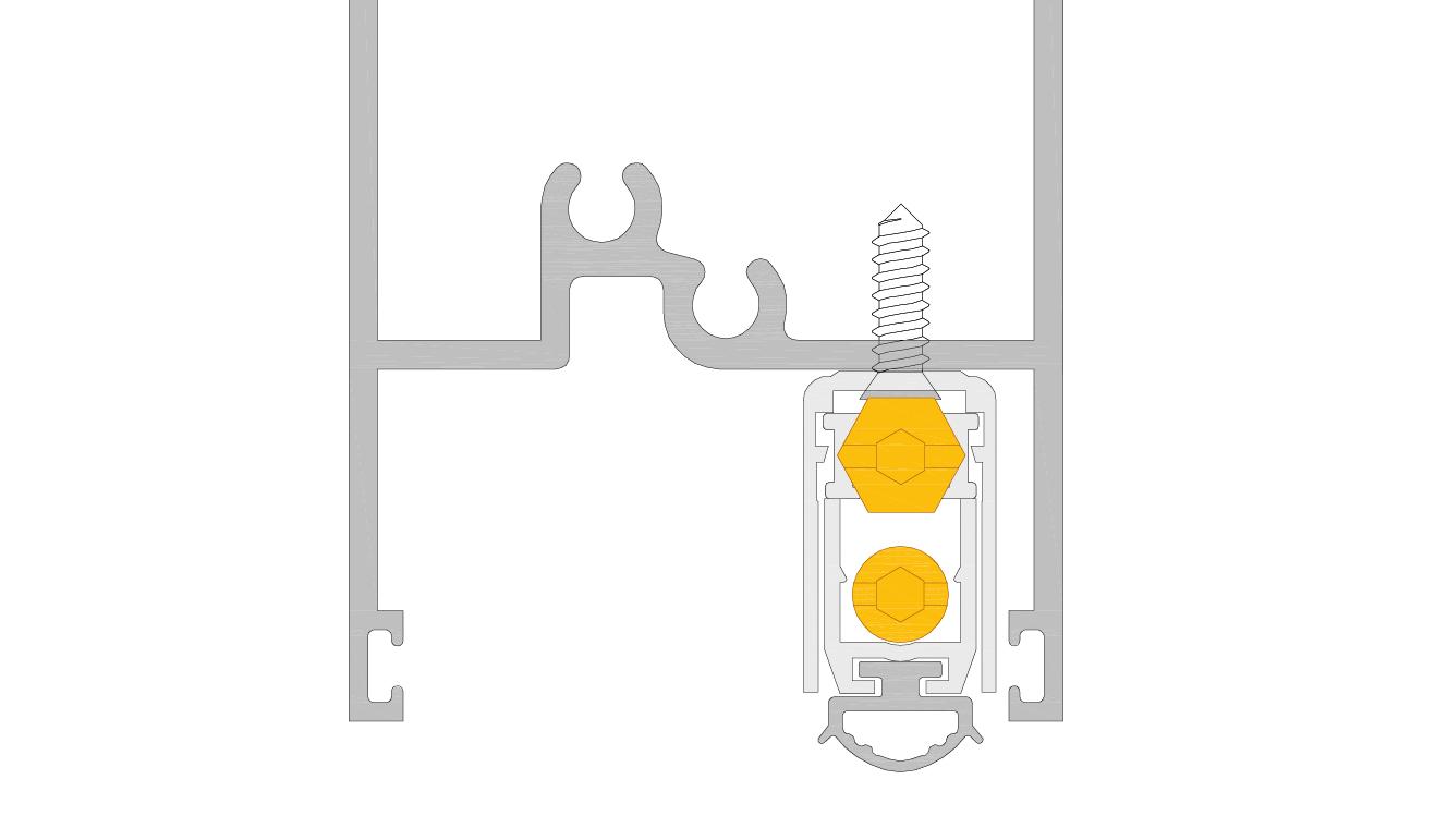 Paraspifferi per Porta alluminio