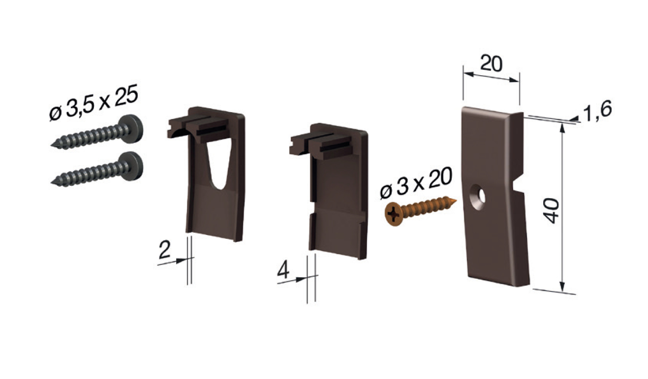Standard accessories for drop down seal No Sound Series 1700