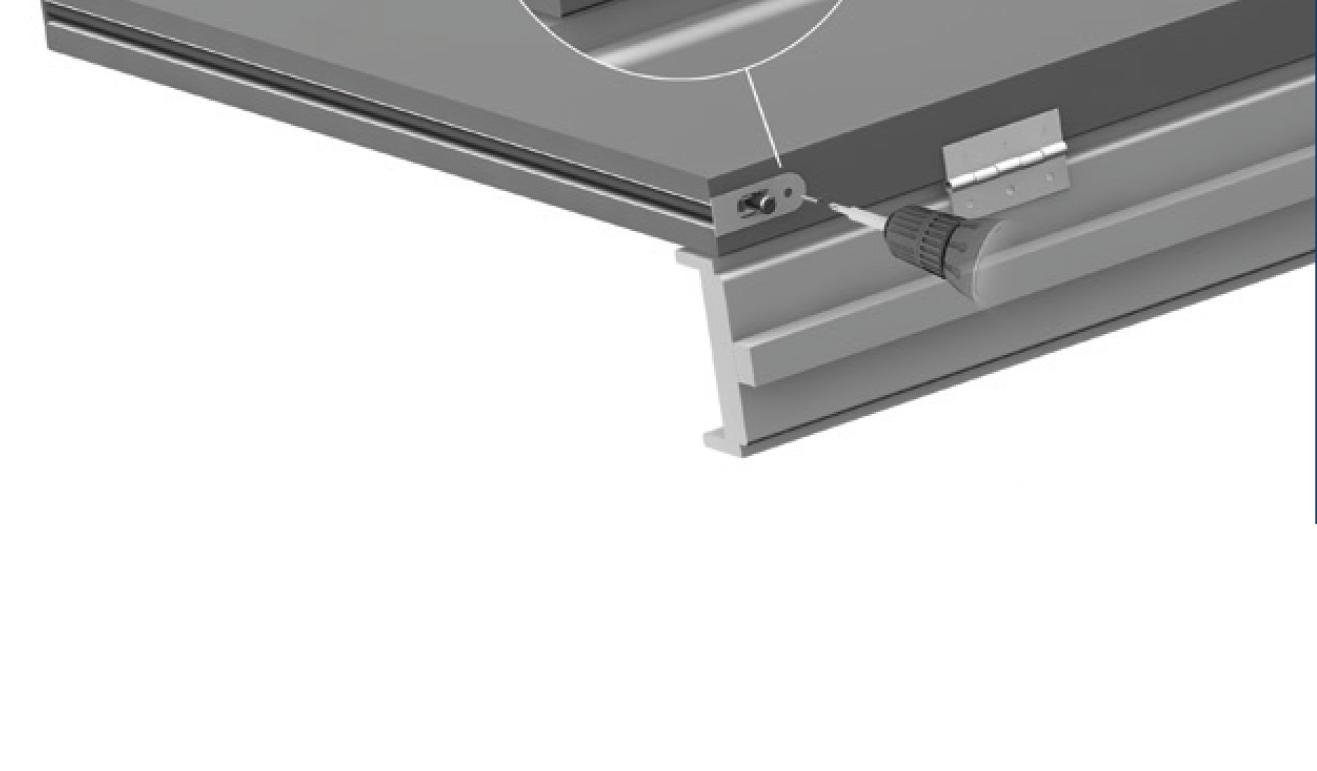 Sistema di fissaggio standard per il paraspifferi Serie No Sound 1704
