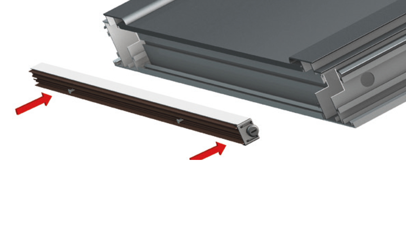 Standard fastening system for drop down seal Serie Special 170