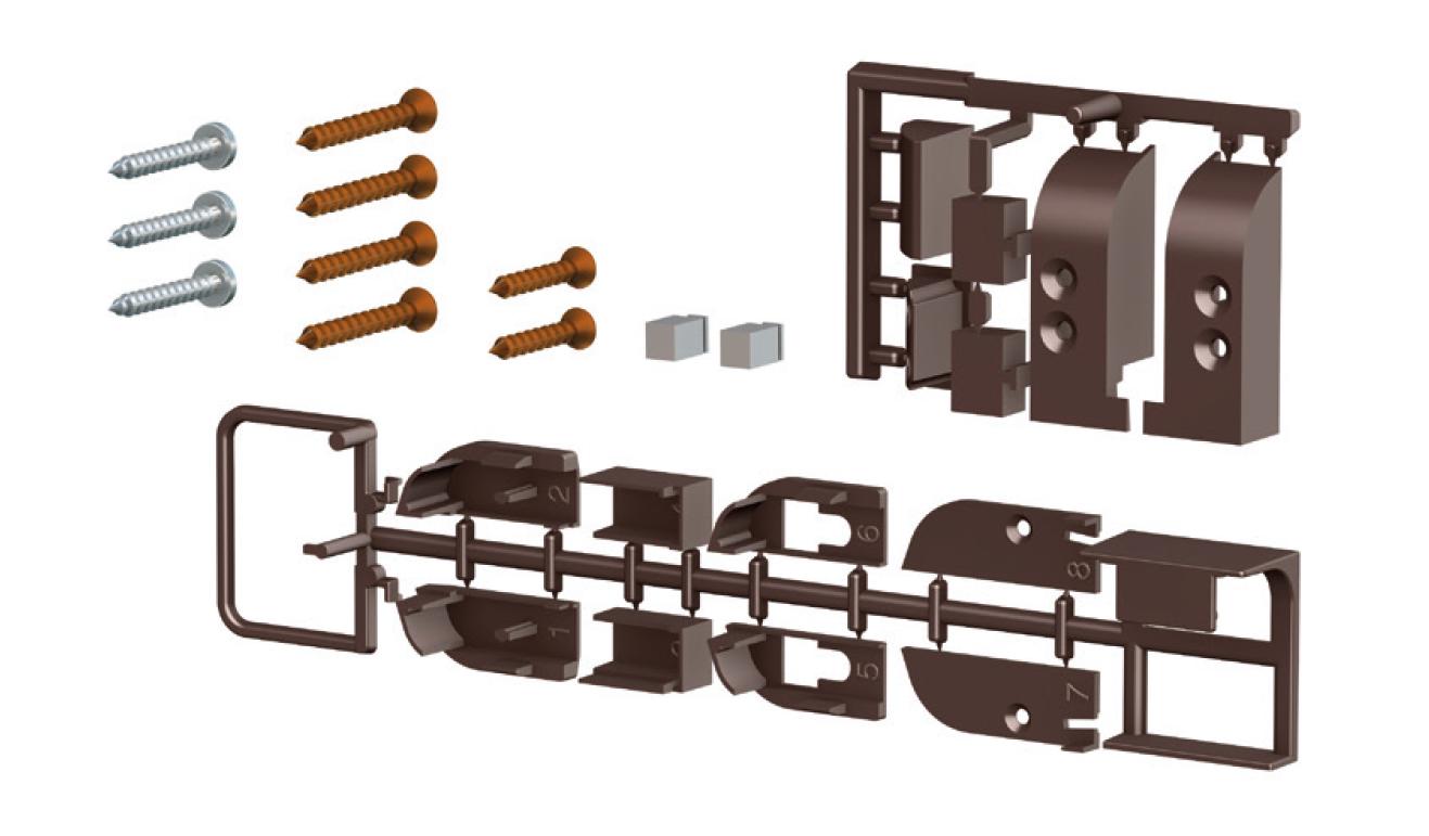 Accessori standard per il paraspifferi Serie Comax 1750