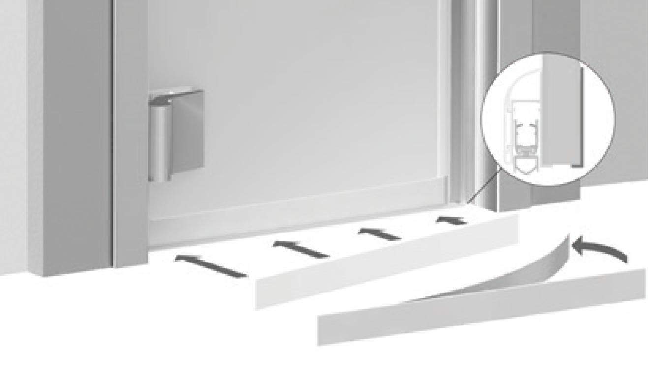 Sistema di fissaggio standard per il paraspifferi Serie Comax 1760