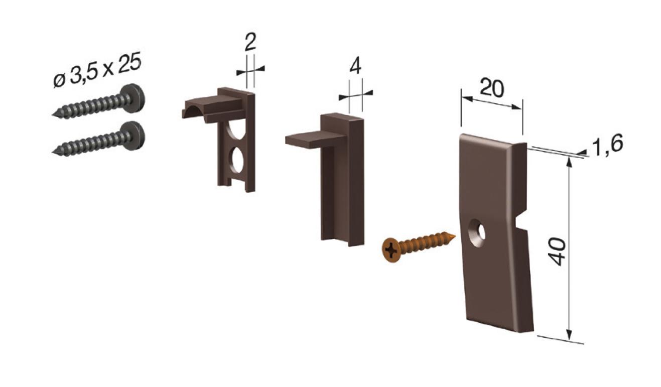 Accessori standard per il paraspifferi Serie Pressure 1772