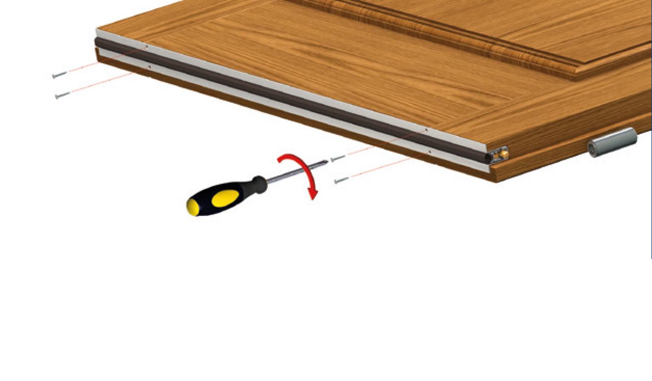 Sistema di fissaggio standard per il paraspifferi Serie No Sound 1800