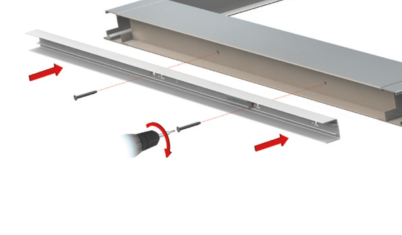 Standard fastening system for drop down seal Serie Special 220
