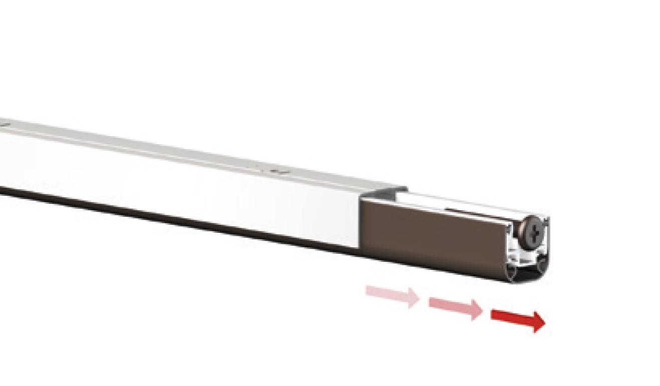 Sistema di fissaggio standard per il paraspifferi Serie No Sound 220