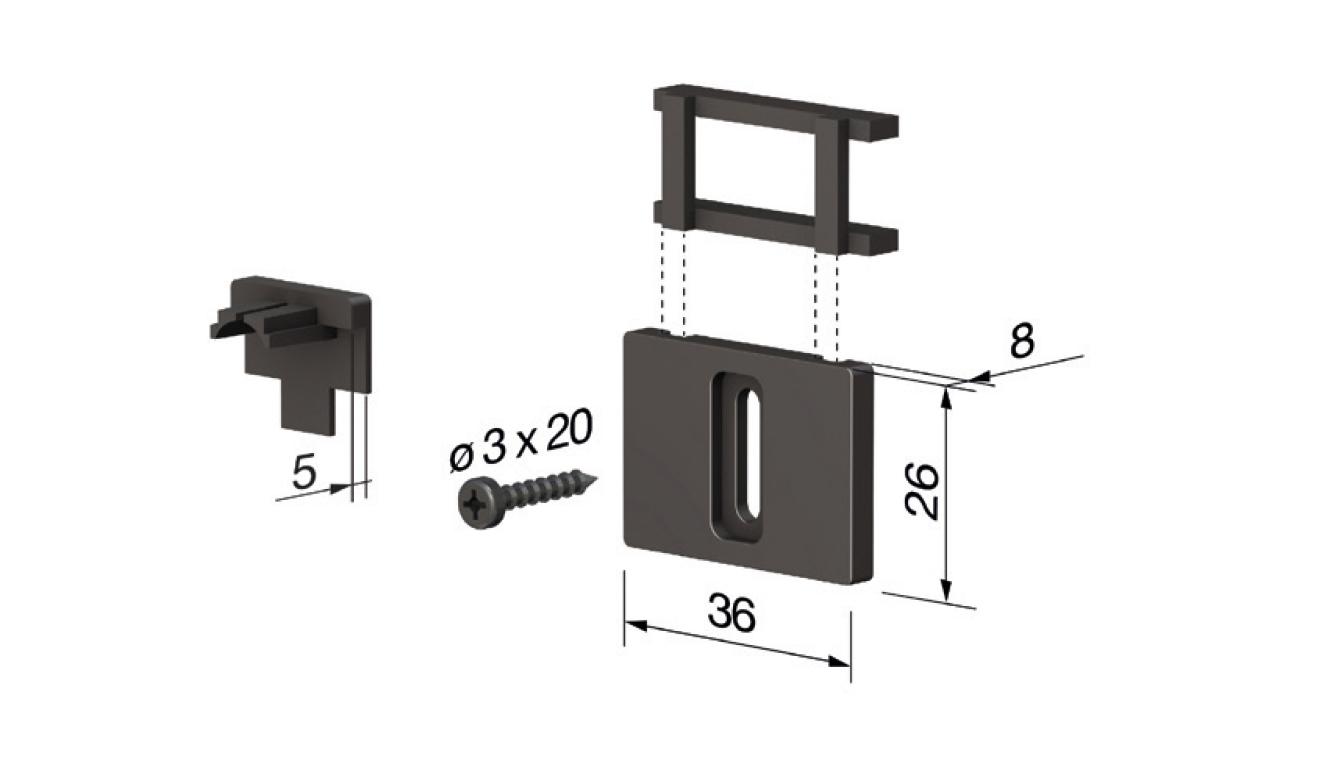 Accessori standard per il paraspifferi Serie Special 270