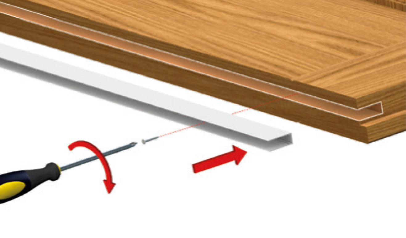 Sistema di fissaggio standard per il paraspifferi Serie Basic 420
