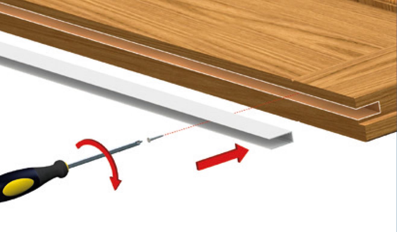 Sistema di fissaggio standard per il paraspifferi Serie No Sound 420