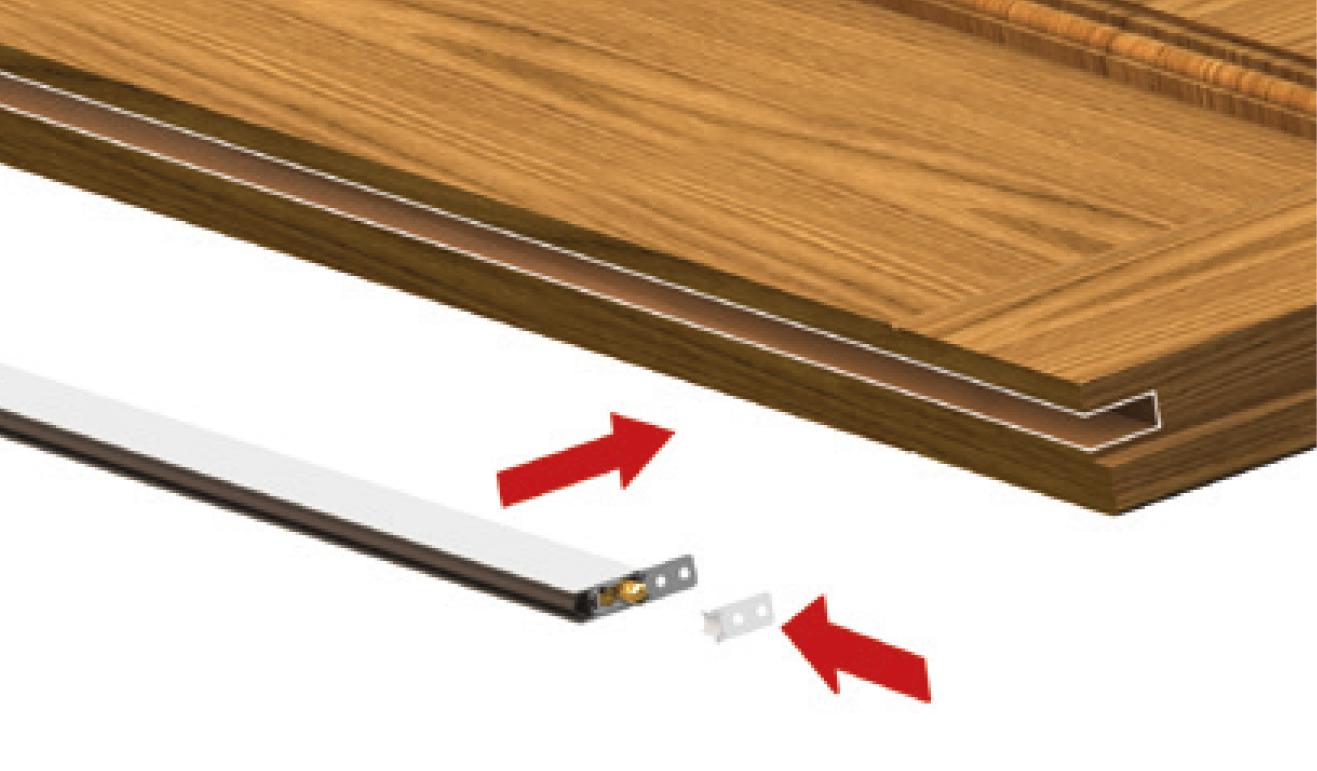 Sistema di fissaggio opzionale per il paraspifferi Serie Basic 422