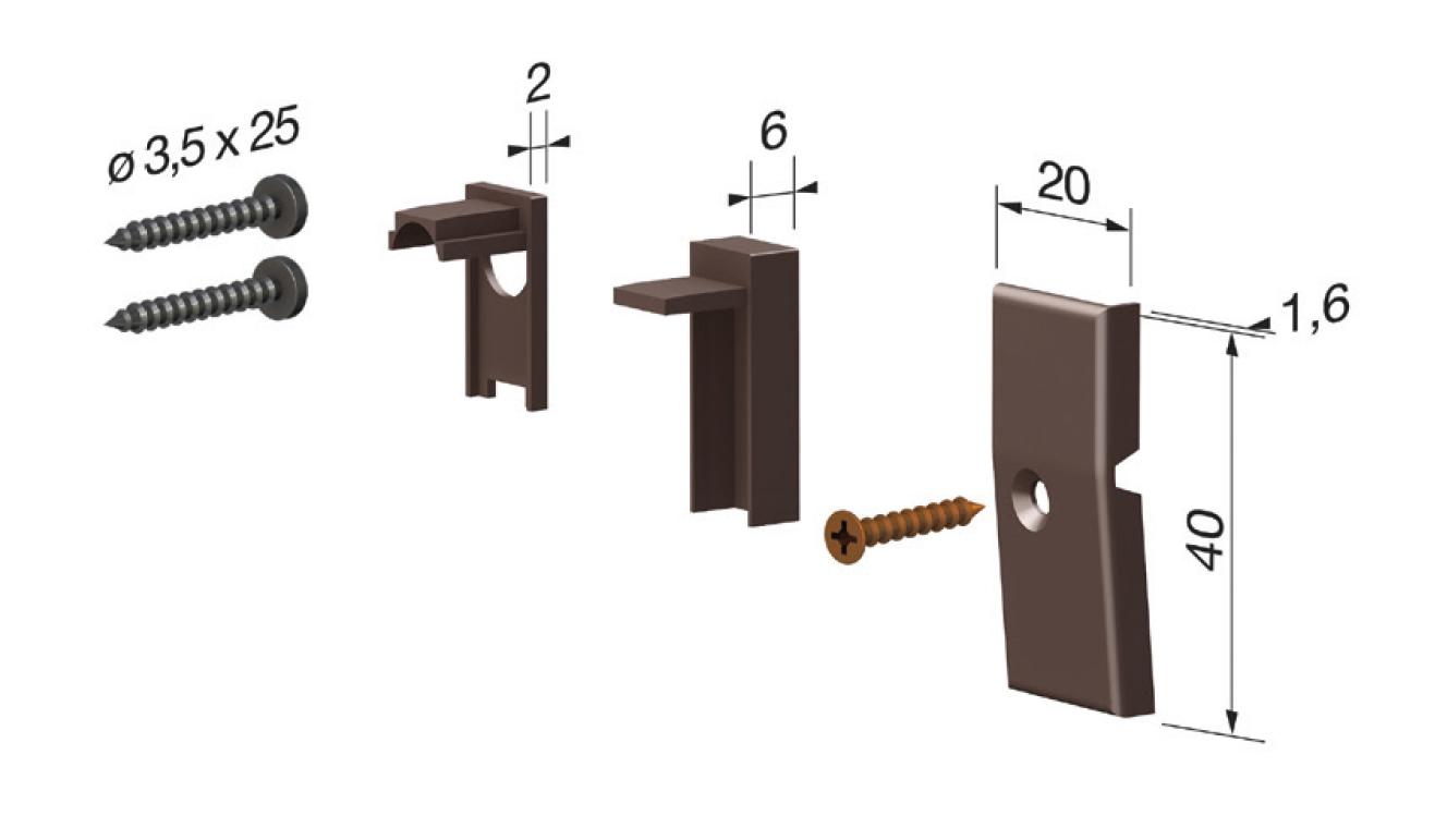 Accessori standard per il paraspifferi Serie Basic 422