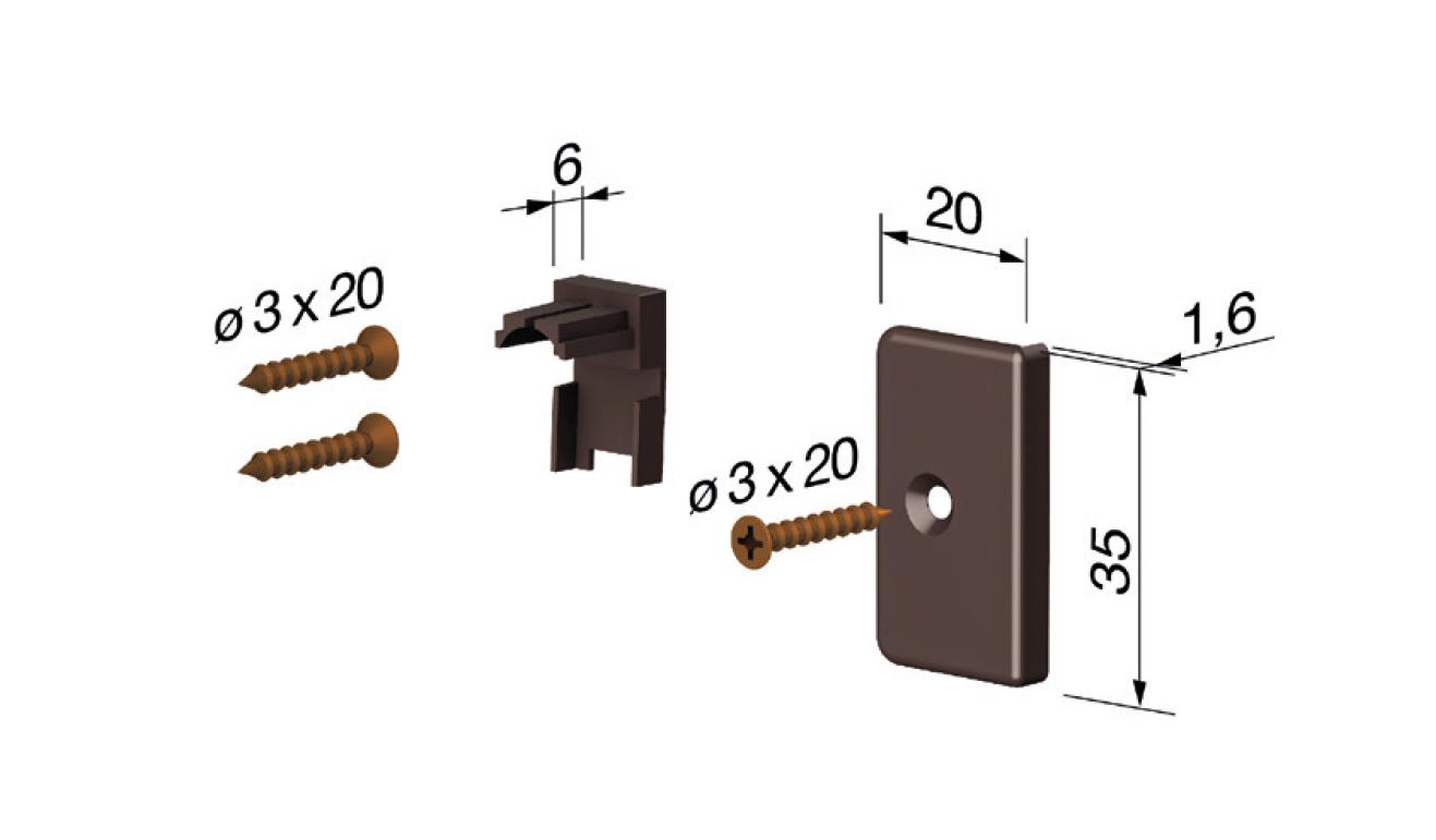 Accessori standard per il paraspifferi Serie Basic 470