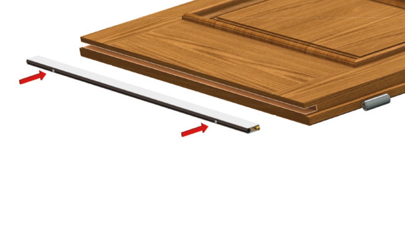 Sistema di fissaggio standard per il paraspifferi Serie Basic 470