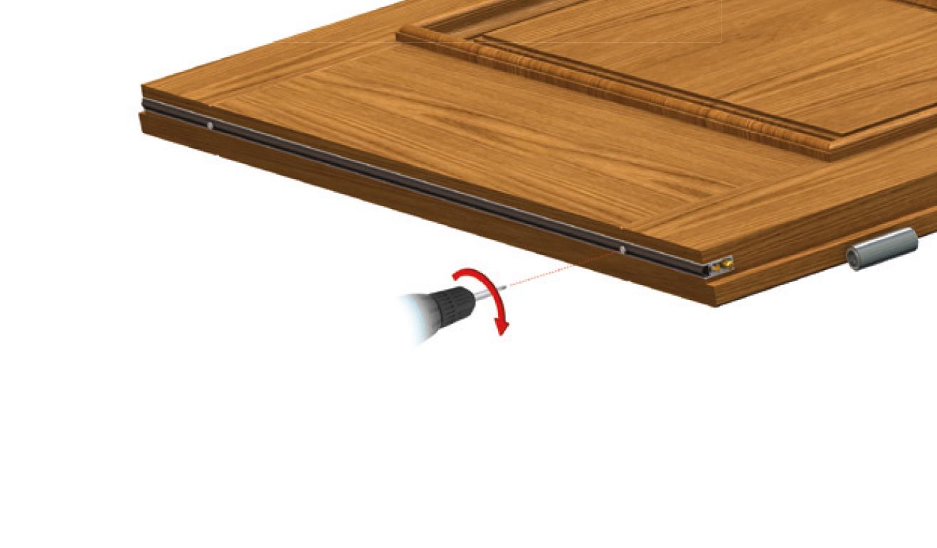 Sistema di fissaggio standard per il paraspifferi Serie No Sound 470