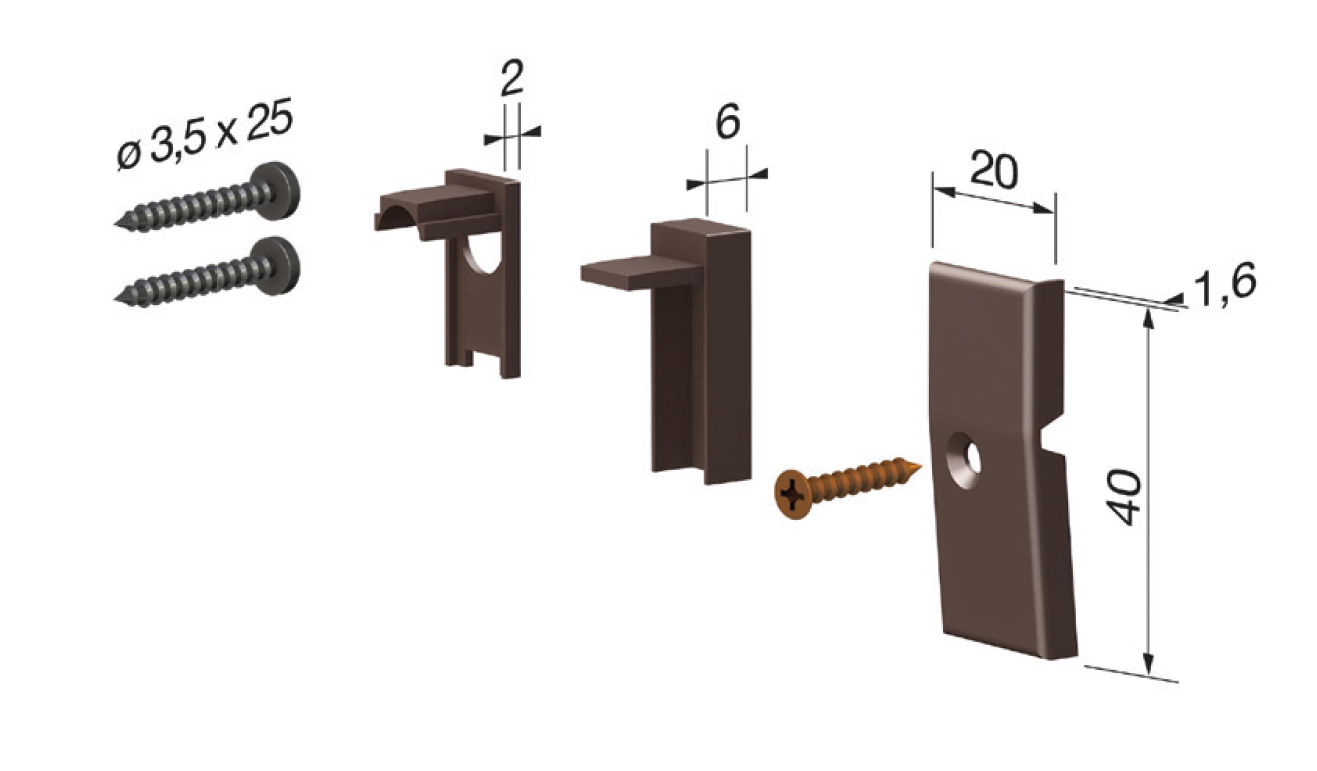 Accessori standard per il paraspifferi Serie Basic 472
