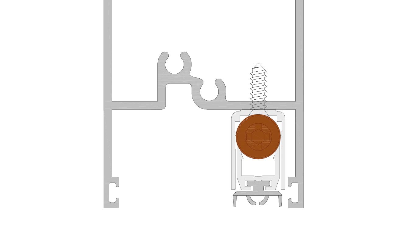 Paraspifferi per Porta in alluminio