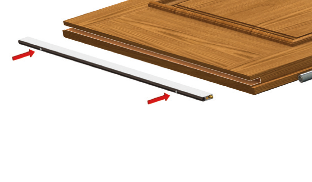 Sistema di fissaggio standard per il paraspifferi Serie No Sound 473