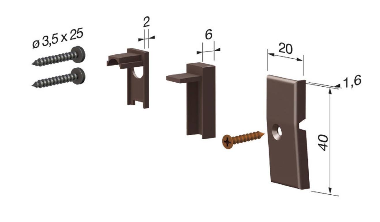 Accessori standard per il paraspifferi Serie Basic 475