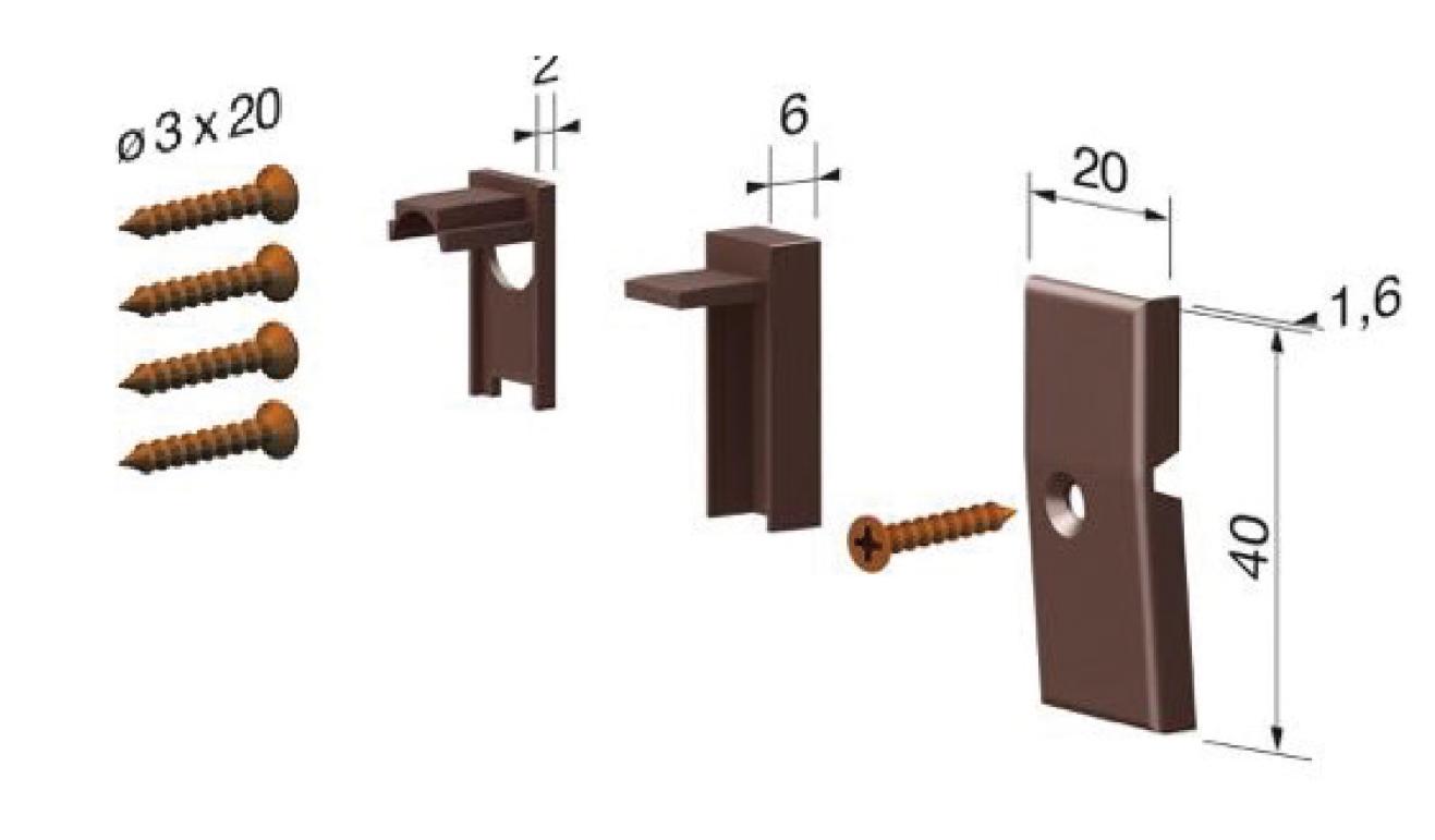 Accessori standard per il paraspifferi Serie Basic 512