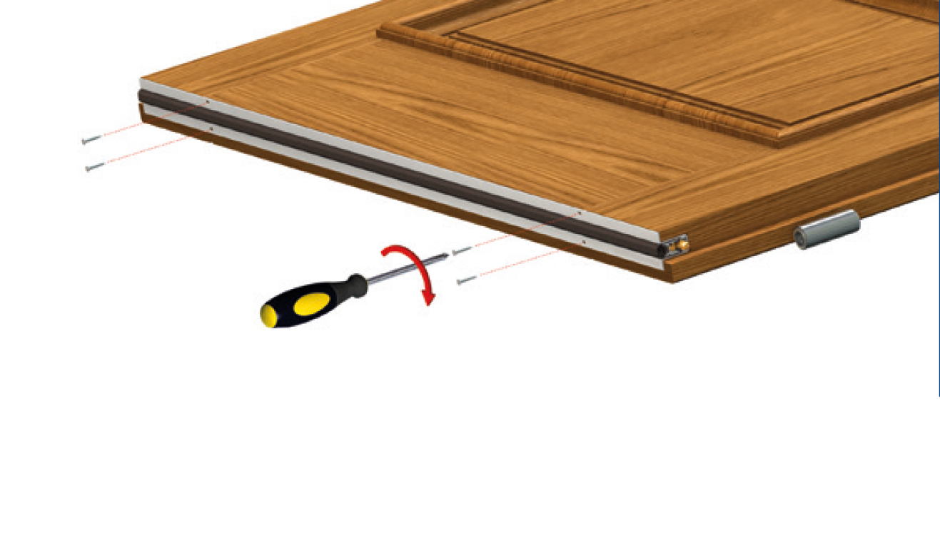 Standard fastening system for drop down seal Serie Basic 512