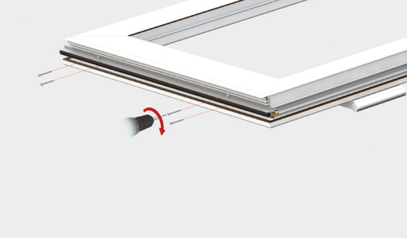 Sistema di fissaggio standard per il paraspifferi Serie Basic 513