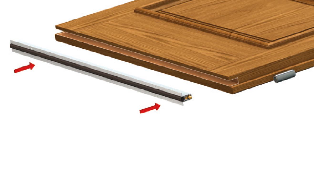 Sistema di fissaggio standard per il paraspifferi Serie Basic 520