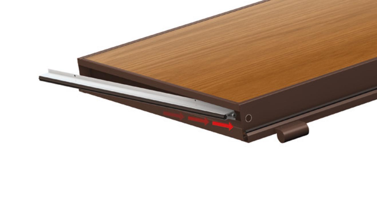 Sistema di fissaggio standard per il paraspifferi Serie Basic 540