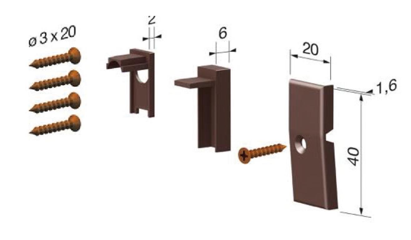 Accessori standard per il paraspifferi Serie Basic 520