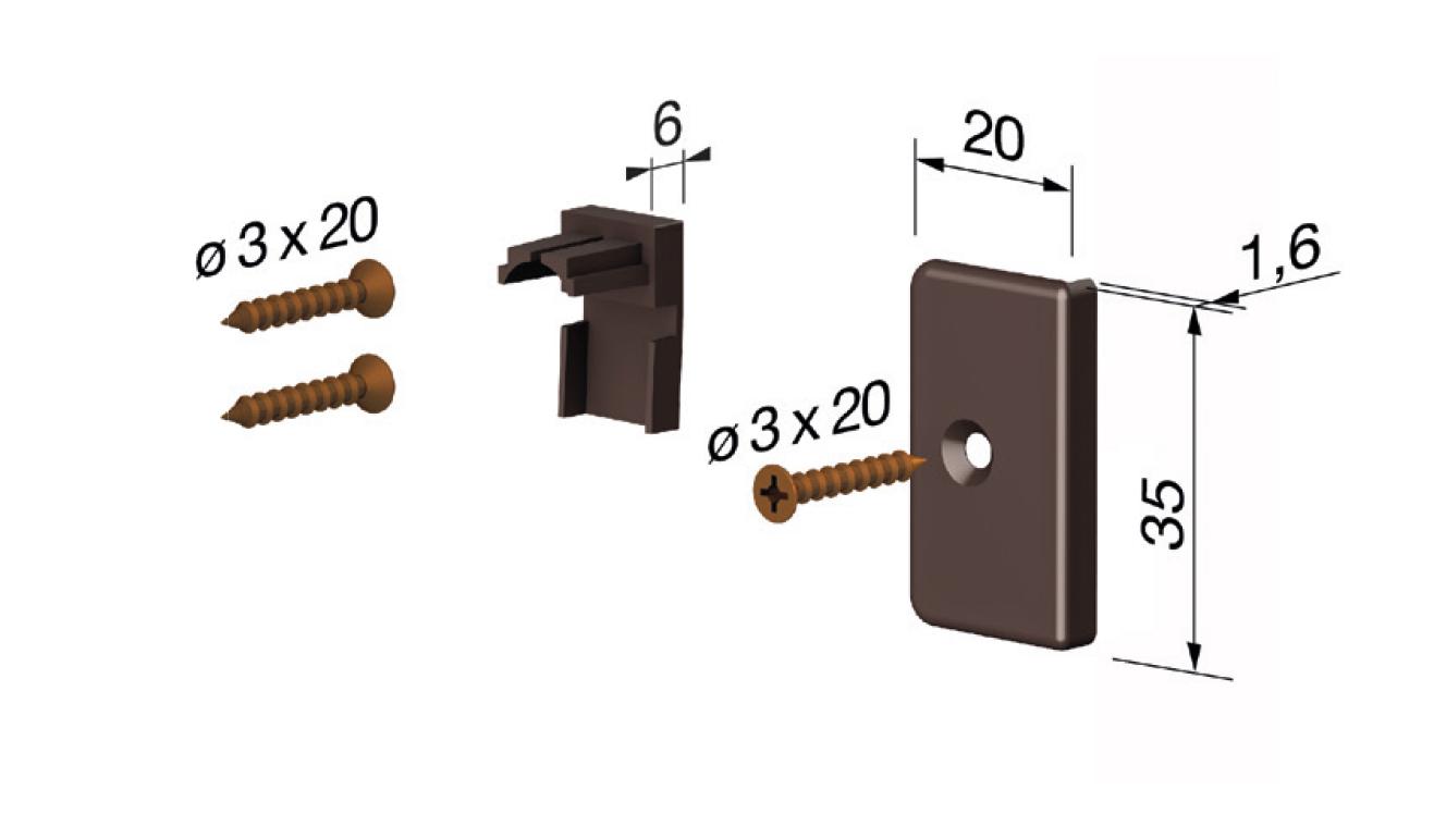 Accessori standard per il paraspifferi Serie Special 920