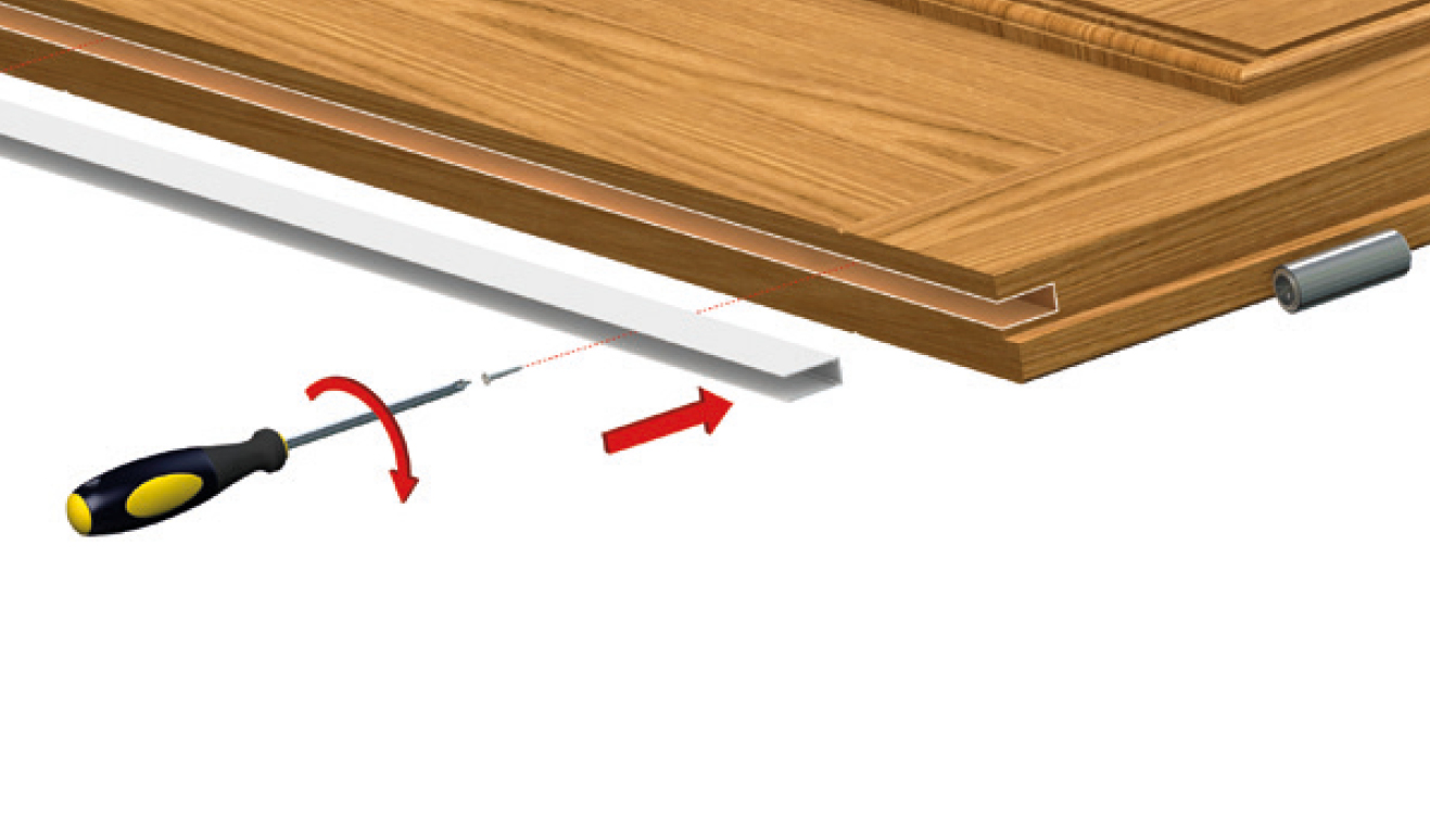 Standard fastening system for drop down seal Special Series 920