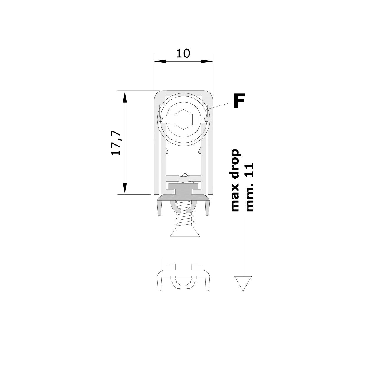Misure standard (mm) per il paraspifferi Serie Special 970