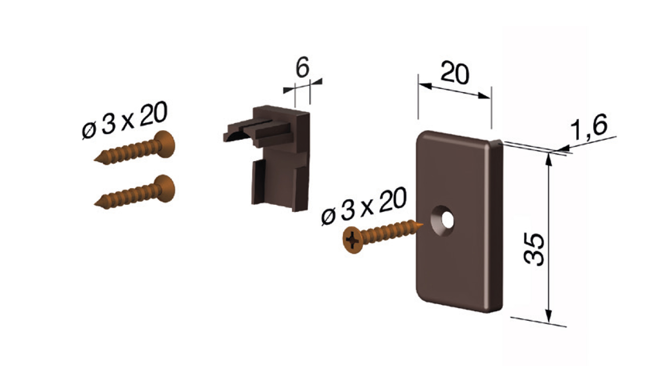 Standard accessories for drop down seal Serie Special 970