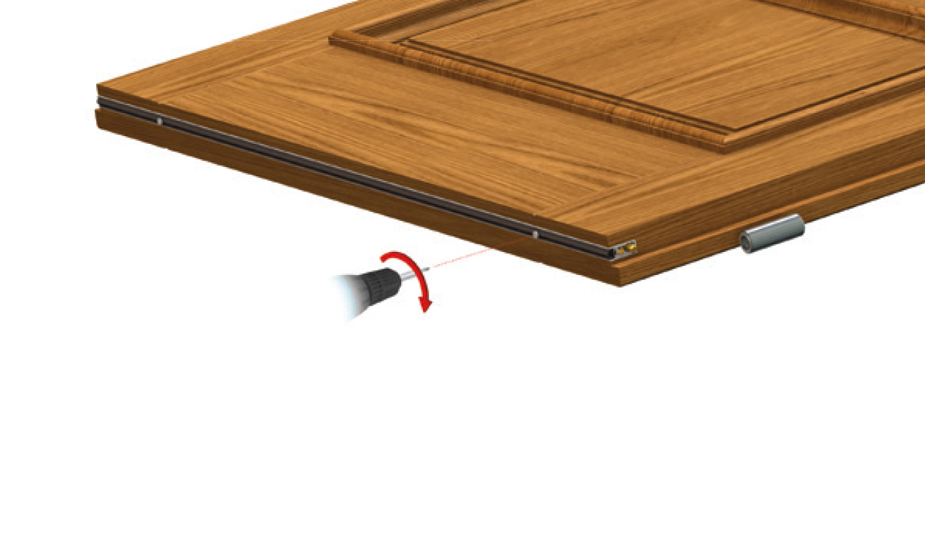 Standard fastening system for drop down seal Serie Special 970