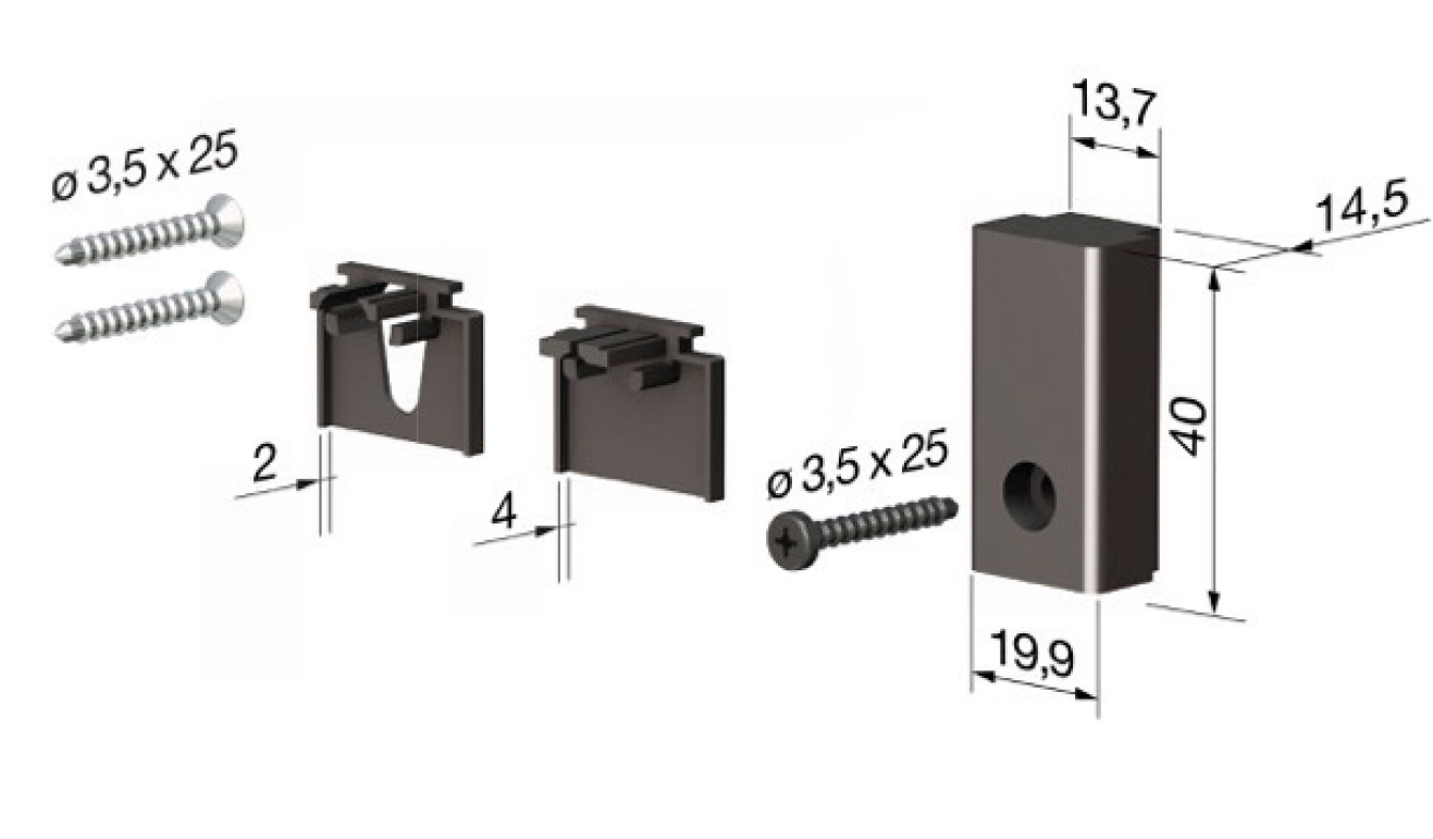 Accessori standard per il paraspifferi Serie Special AE