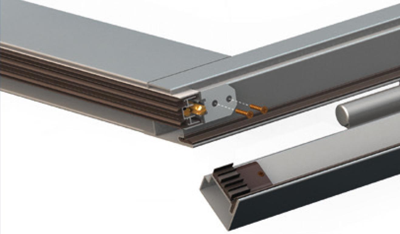 Sistema di fissaggio opzionale per il paraspifferi Serie Special AE